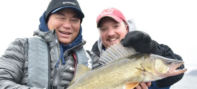Winter Open Water Walleye